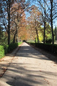 entering one of Aranjuez's public gardens